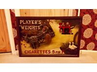 Vintage 'Players Weights' Cigarettes 3D Framed Picture