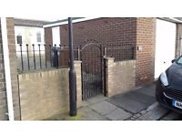 Iron gate and rails