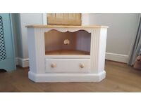 Pine TV Cabinet painted in Laura Ashley Pale Sable