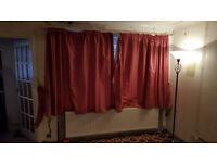 Dark warm Pink Curtains