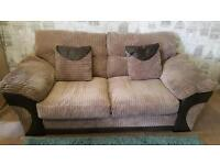 Chenille cord 3 seater sofa bed. Delivery available