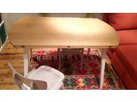 HABITAT round wooden folding table £50