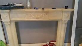 Marble look alike fireplace