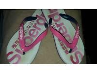 Ladies Superdry flip flops
