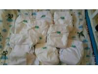 8 X Totsbots Easy fit white ALL NEW & UNUSED Reusable Nappies. Bundle of 8