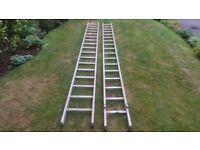 Aluminium double extension Lyte brand ladders