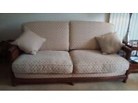 Ercol Bergere 3 Seater Sofa and 2 Armchairs
