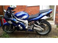 1999 Yamaha YZF-R6 (Blue) in Very Good Condition