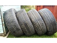 205X55X16 TYRES X4 FOR SALE,VERY GOOD TREAD,£20 EACH/£50 FOR ALL 4