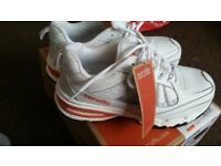 White Leather Hyper safety trainers Size UK7/EUR41