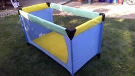 Lovey bright cot or playpen