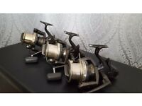 3x shimano long cast original reels