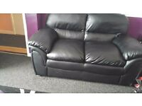 FOR SALE REAL LEATHER 2 SEATER SOFA