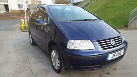 VOLKSWAGEN SHARAN 2.0 SE TDI 5d 140 BHP 2 LADY OWNERS IN TOTAL 7 SEATER, SERVICE RECORD