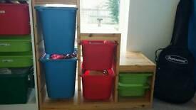 Ikea pine trofast storage unit