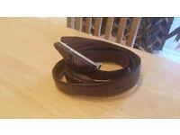 Crocodile skin imitation genuine leather belt still in excellent condition