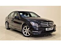MERCEDES-BENZ C CLASS 2.1 C220 CDI BLUEEFFICIENCY SPORT 4d AUTO 168 BHP (black) 2012