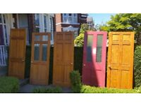 various 4 & 6 panel wooden doors some glazed - free to a good home