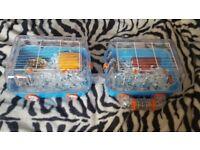 Roborovski hamster x2 cages
