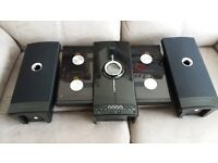 iLuv I9200 High-Fidelity Mini Audio System With 4CD / MP3 CD Changer Wall Mountable - Black