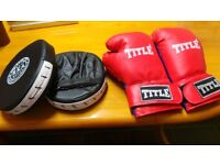 Boxing gloves & sparring pads £7