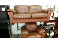 Tan leather suite 2 & 1