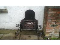 Cast Iron open fire grate from Inglenook fireplace