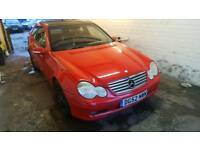 Mercedes C180 COUPE long MOT low mileage
