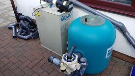 EconoBead EB-60 pond bead filter & Aqua Sieve Midi pond sieve