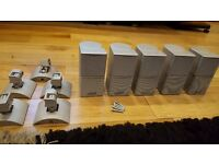 x5 Bose Jewel Cubes Speakers grey