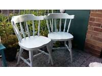 Shabby Chic dining chair with hand painted bow