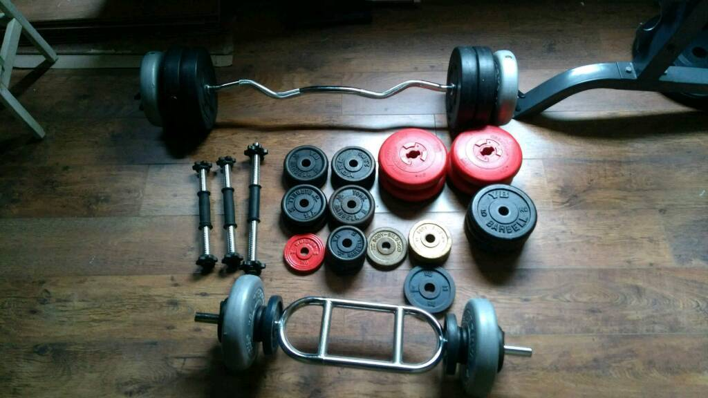 Weights Dumbbells Tricep Bar And Ez Curl Free Standard 1 Gym