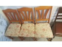 3 Kitchen / Dining Chairs