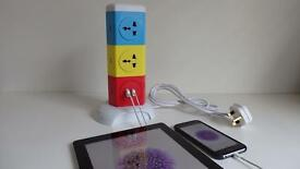 Brand New with Plug extension 5 way + 2 USB
