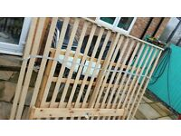 Wooden fram double bed with mattress
