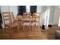 JOKKMOKK Solid Pine dining table + Chairs
