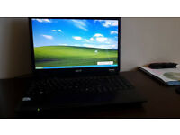 "Acer Extensa 5635Z laptop (15.5"" screen, 8GB memory, 300GB drive) + spare battery + free bag"