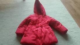 Girls coat aged 2-3