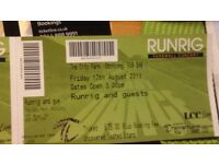 2 seated tickets for Runrig Friday August 17th