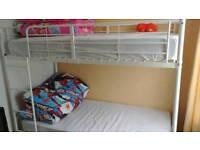 Bunk beds with mattress n duvet sets.