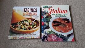 Two Cooking Books - Italian and Moroccan