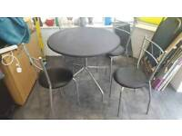 Black Table with 4 chairs