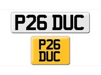 P26 DUC DOCtor DUCK private registration plate cherished personalised registration plate number