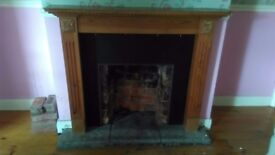 Solid Wooden Fire Surround and Solid Inner