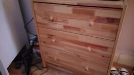 Two. Sets of pine. Drawers