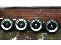 """15"""" BBS Rep Alloy Wheels 4/5 Stud Multifit"""