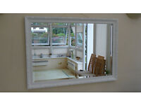 Large Attractive Classical Design Mirror in Satin White