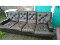 Free leather sofa - 4 seats