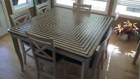 Refinished table and 8 chairs