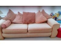 two settees three seater and four